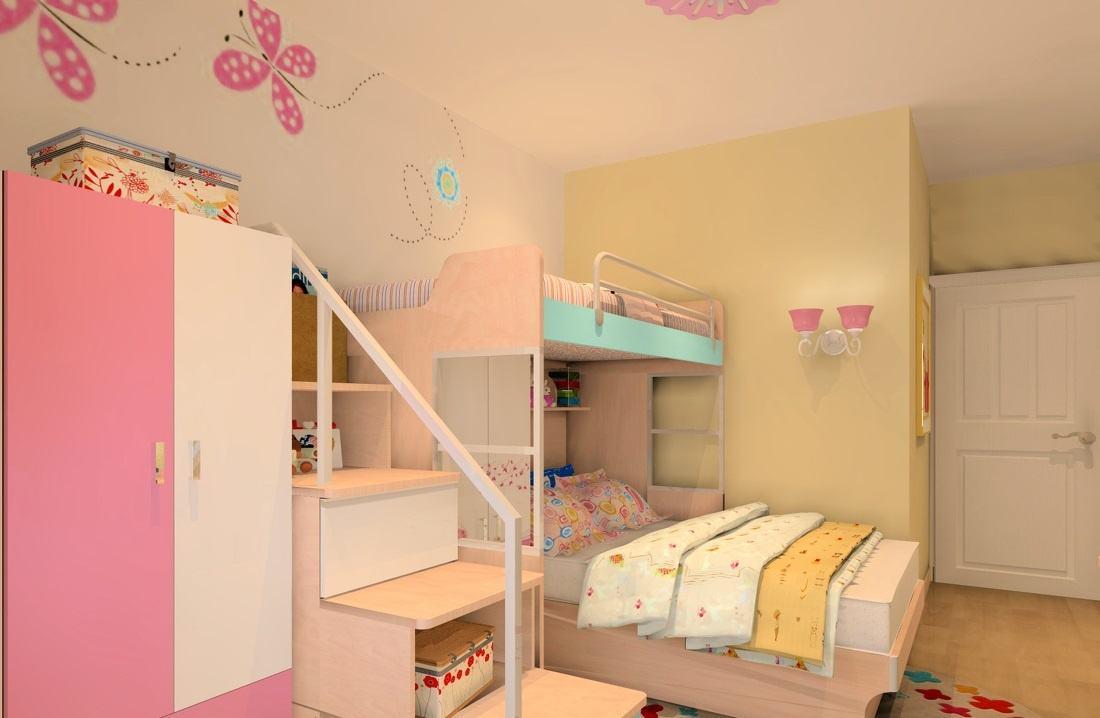 雙胞胎兒童房溫馨居