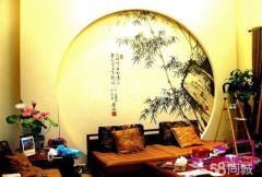 北京墙体彩绘50元起 文化墙走廊壁画艺术涂鸦古建筑