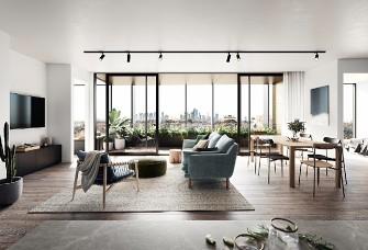 11.8萬90平米歐式二居室裝修效果圖