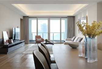 现代简约的150平米平层公寓