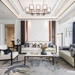 中式復式客廳設計圖片