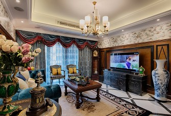 164㎡的大四房奢华美式风格