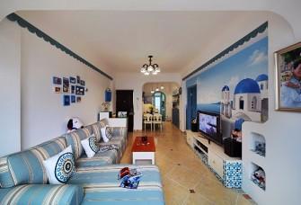98㎡二居室地中海 蓝色的梦,温馨的家