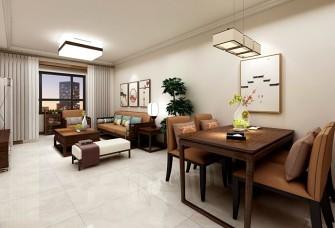 90平方新中式风格三居