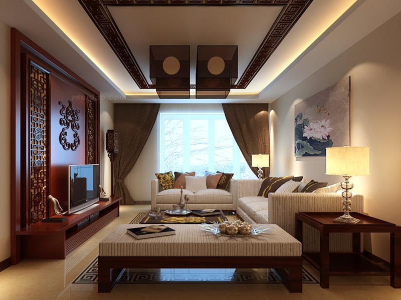 饱和明艳的色彩打造现代风格客厅17