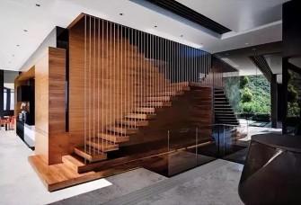 复式房设计悬浮式楼梯!