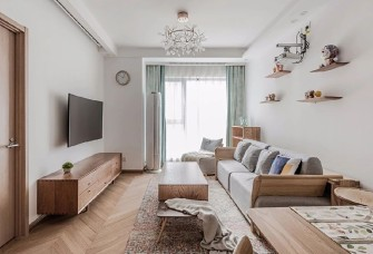 85㎡原木日式风,打造温馨舒适之家