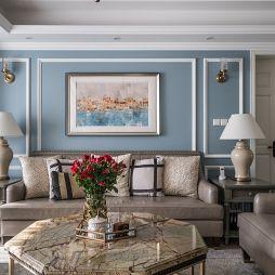 美式黃永坤客廳設計