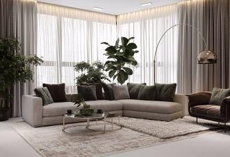莫斯科100m2現代家庭公寓