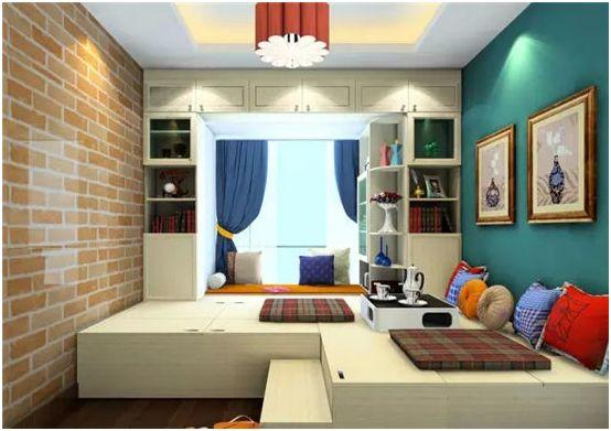 大氣的臥室飄窗設計增強收納功能83