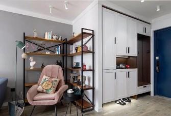 94平北欧小婚房,灰+粉色细腻小清新