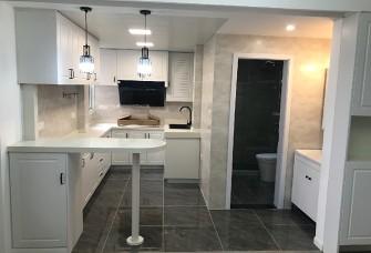 59平方清新北欧一房 敞开式厨房+小吧台