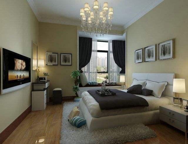 大氣的臥室飄窗設計增強收納功能