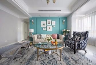 110的面积+美式田园风格+三室的户型