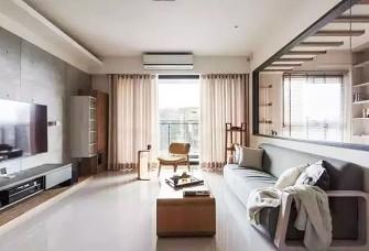 106㎡現代三居室,清水模電視墻