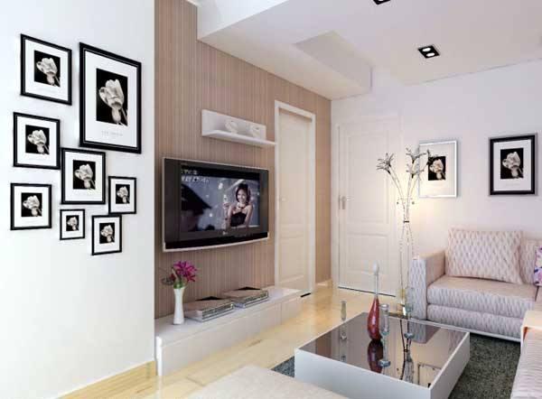 一室简约客厅装修效果图