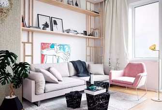 76㎡清新色彩公寓,简直美翻天!