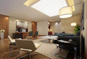 駕校2500m2新中式辦公室裝修設計