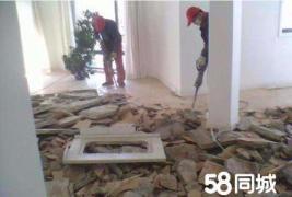 专业砸墙、商场撤柜货架拆除、店面拆除吊顶、垃圾清运_1