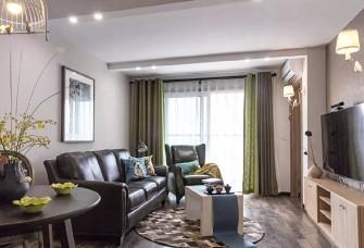80平米美式風格,美美的臥室飄窗