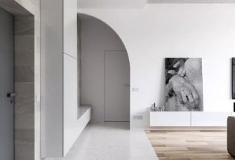 74㎡一室一廳,玄關到臥室這設計太贊了