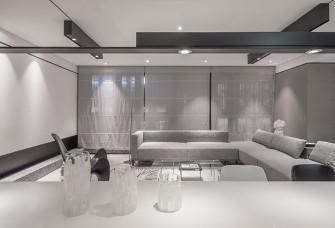 140平米爆改為一室,黑白灰榮耀展現