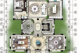 几凡设计上海浦江镇新中式样板房