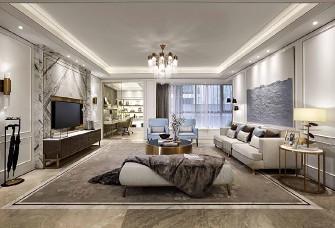 现代法式风格,四居室,让空间无限延伸。