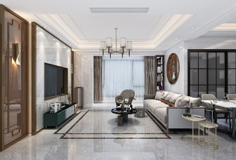 100平米現代中式三房戶型
