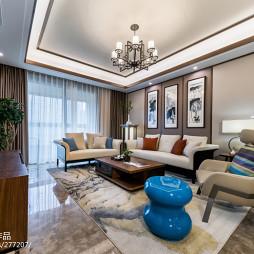 唯美新中式客廳設計圖