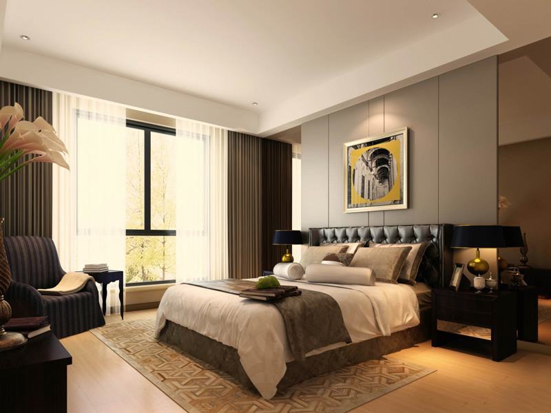欧式风格卧室墙面颜色装修效果图