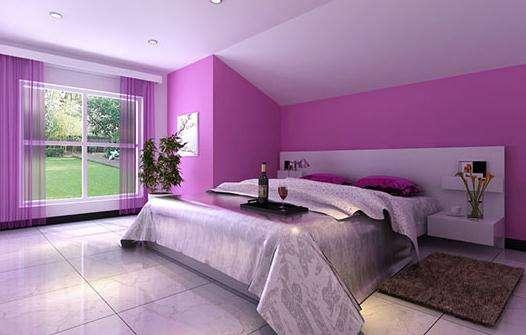 紫色系溫馨臥室54