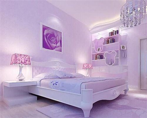 紫色系溫馨臥室