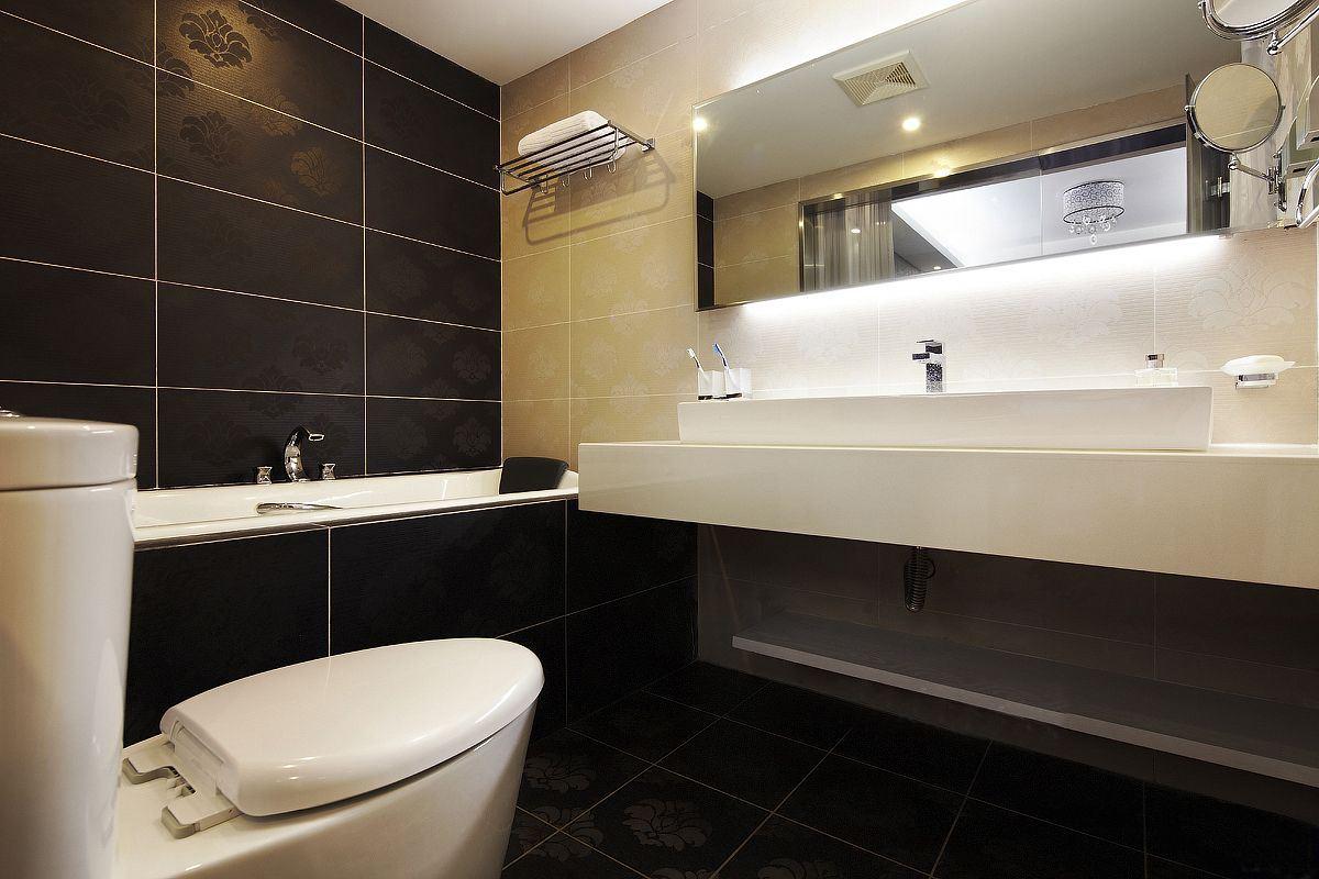 50平现代一居室卫生间50