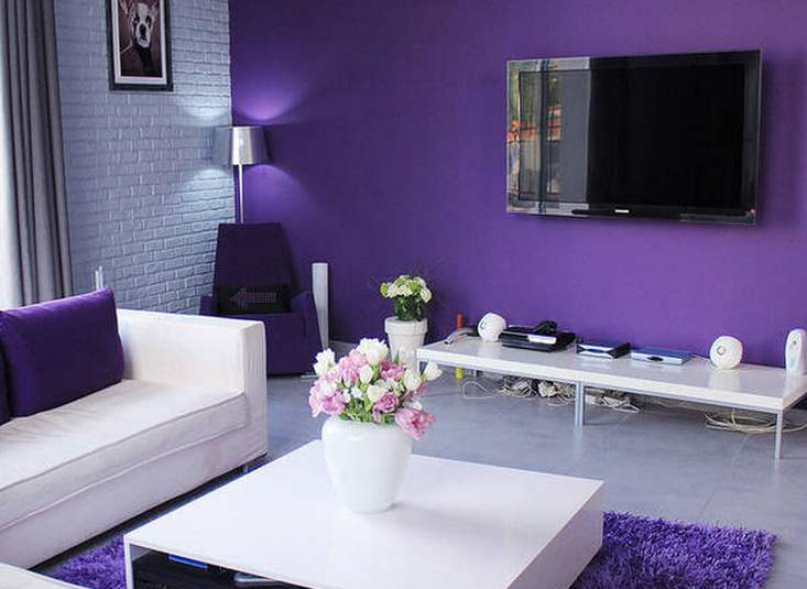 120方紫色魅力四居室5