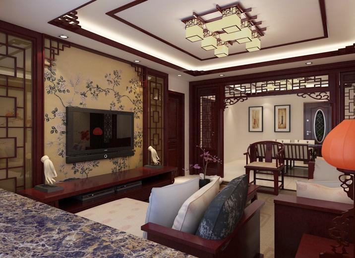 140平中式古典三居室28