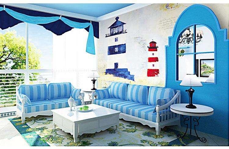 藍色系浪漫三居室