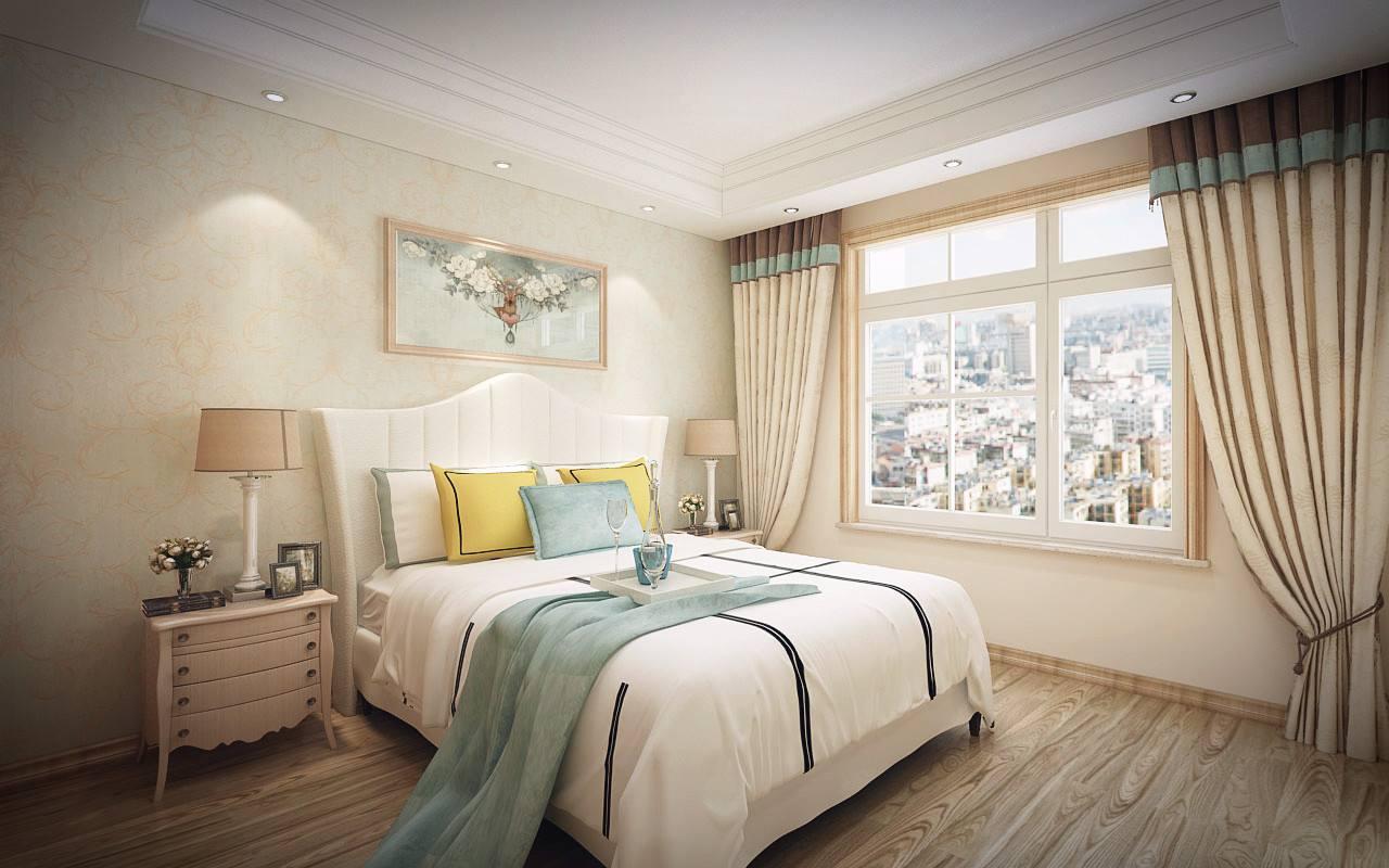 美式風格閣樓客廳背景墻裝修效果圖