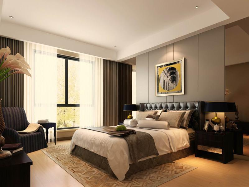 美式風格大臥室裝修效果圖