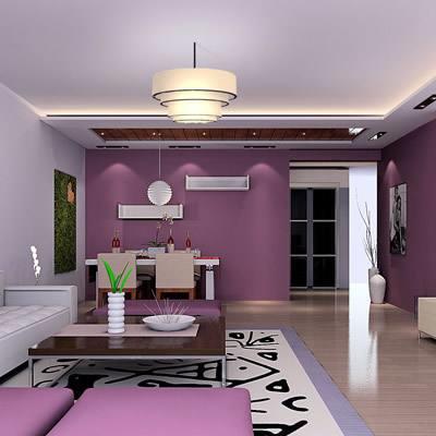 紫色系溫馨臥室78