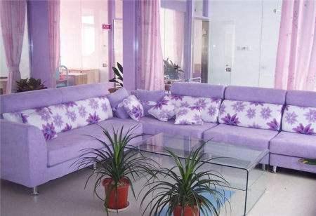 紫色系溫馨臥室84