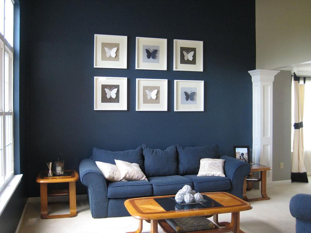墻磚搭配以海藍色的櫥柜10
