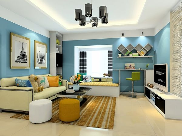 130平非传统客厅形式的亲子互动空间