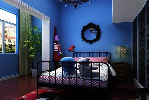 藍色浪漫兩居室55