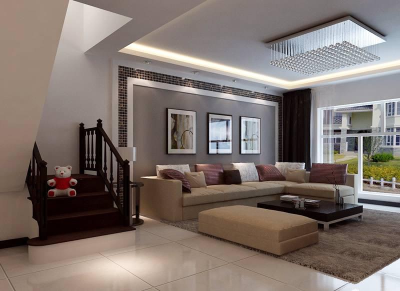 饱和明艳的色彩打造现代风格客厅11