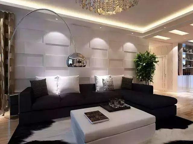 65㎡舒适简约风,沙发墙还能这样设计!