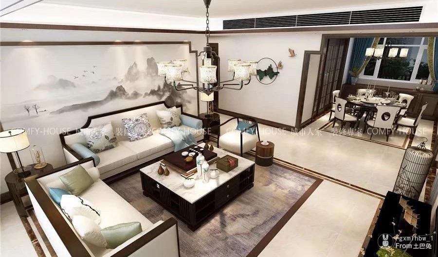 【新中式风格】135平三室两厅,优雅如画,静逸脱俗!_1