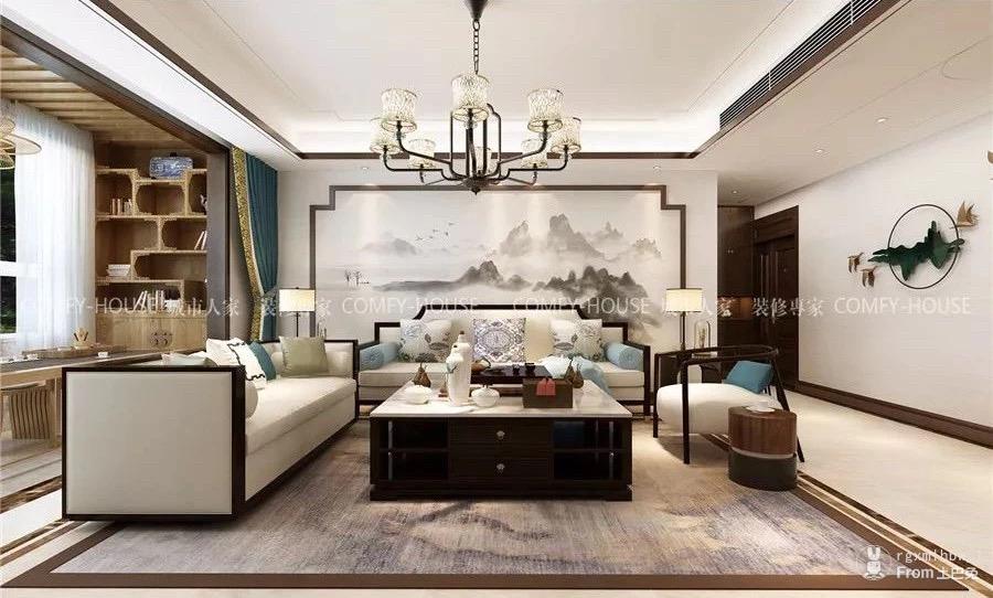【新中式风格】135平三室两厅,优雅如画,静逸脱俗!_0