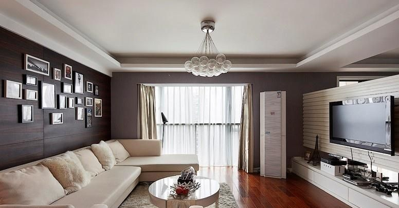 布艺沙发搭铁艺灯具,小资妥妥的45