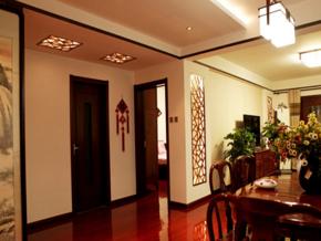 中式客廳玄關裝修效果圖